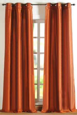 Deco Window Polyester Green Printed Eyelet Door Curtain