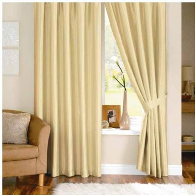 Sls Dreams Polyester Beig Plain Eyelet Window Curtain