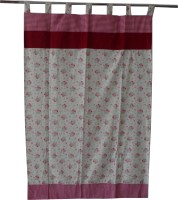Adt Saral Cotton Multicolor Printed Eyelet Door Curtain(200 cm in Height, Single Curtain)