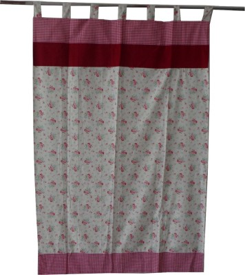 Adt Saral Cotton Multicolor Printed Eyelet Door Curtain