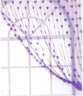 Ramcha Polyester Purple Abstract Eyelet Door Curtain