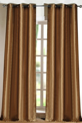 Deco Window Polyester Beige Eyelet Long Door Curtain