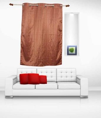 Lukluck Polycotton Multicolor Self Design Ring Rod Window Curtain