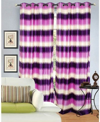 Madhav Product Polyester Multicolor Floral Eyelet Door Curtain