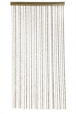 Ramcha Polyester Gold Self Design Rod pocket Door Curtain
