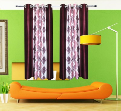 Home Fashion Gallery Polyester Multicolor Printed Eyelet Window Curtain