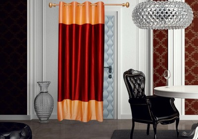 Batham Sales Blends Maroon Plain Eyelet Door Curtain