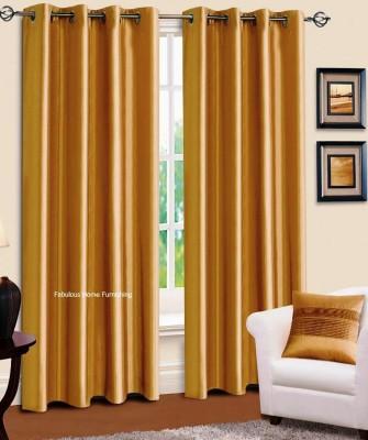 shivamconcepts Polyester GOLDEN Plain Eyelet Window Curtain