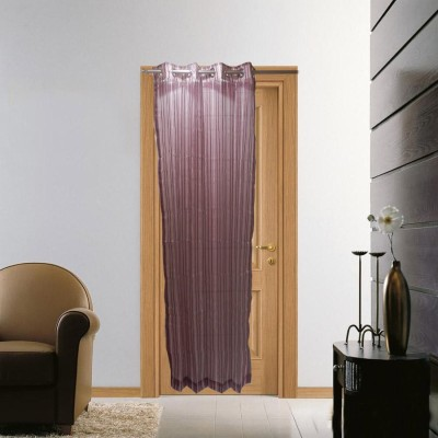 Furnishing Centre Polyester Wine Striped Eyelet Door Curtain