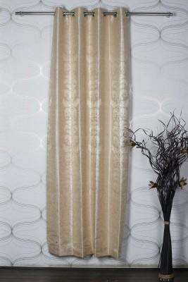 Homelife Jacquard Beige Self Design Eyelet Window Curtain