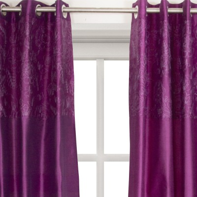 House This Cotton Purple Embroidered Eyelet Window Curtain