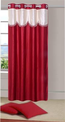 Azaan Decor Polyester Multicolor Plain Eyelet Door Curtain