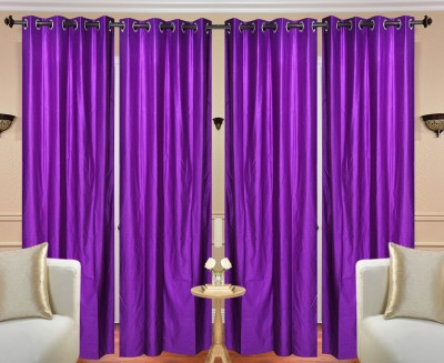 Fresh From Loom Polyester Purple Plain Curtain Long Door Curtain