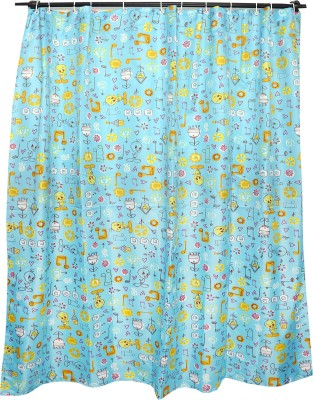 Skap Polyester Blue Cartoon Eyelet Shower Curtain