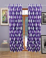 Sajaawat Polyester Purple Solid Eyelet Door Curtain(213.36 cm in Height, Single Curtain)