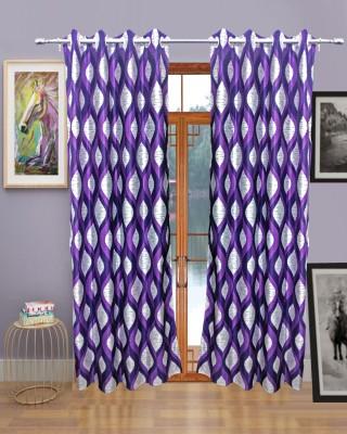 Sajawatt Polyester Purple Solid Eyelet Door Curtain