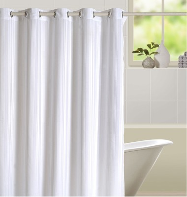 Swayam Silk White Solid Eyelet Door Curtain