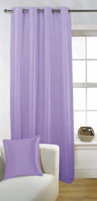 Fabutex Polyester Lavender Solid Eyelet Door Curtain