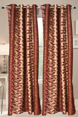 Valtellina Polyester Multicolor Floral Eyelet Door Curtain