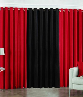 K Decor Polyester Multicolor Abstract Eyelet Door Curtain