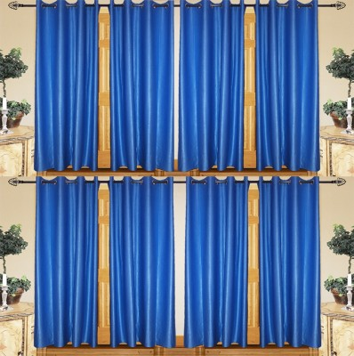 IndianOnlineMall Polyester Multicolor Plain Curtain Long Door Curtain