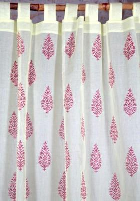 Ocean Homestore Cotton Yellow Floral Curtain Door Curtain