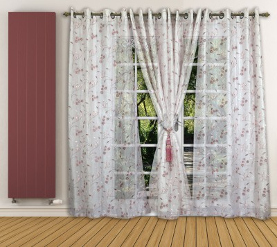 Ariana Tissue Pink Floral Curtain Window Curtain