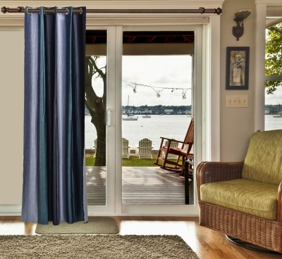 sachidanand solutions Polyester Grey Solid Eyelet Window & Door Curtain
