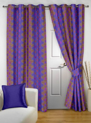 Story @ Home Polyester Violet Printed Eyelet Door Curtain