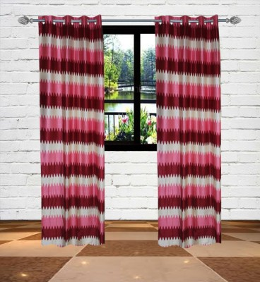 Gaurav Curtains Polyester Multi Colour Floral Eyelet Door Curtain