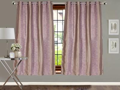 Vivace Homes Jacquard Multicolor Geometric Eyelet Window Curtain