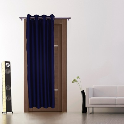 Zappy Cart Polyester Blue Solid Curtain Window Curtain