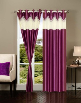 Brand Decor Polyester Multicolor Solid Eyelet Long Door Curtain