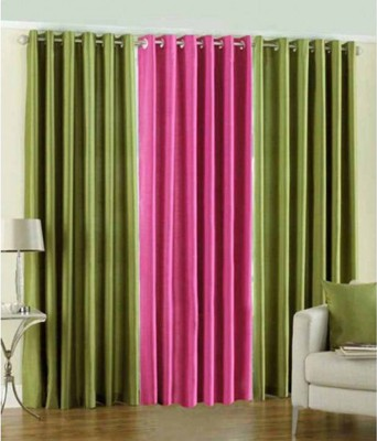 JTInternational Polyester Multicolor Printed Eyelet Door Curtain