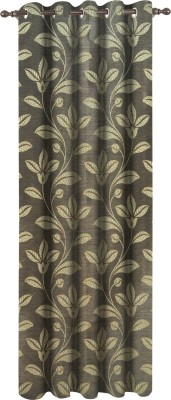 Dreamscape Polyester Green Floral Eyelet Door Curtain