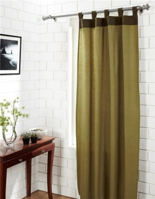 House This Cotton Green Abstract Tab Top Window Curtain