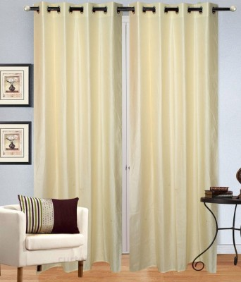 Shop Since Polyester White Plain Eyelet Door Curtain