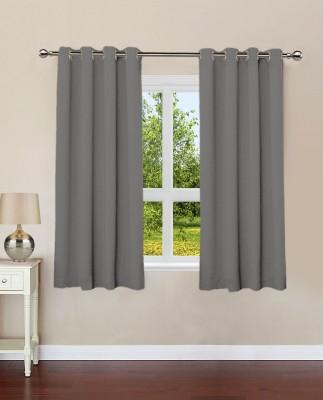 Lushomes Cotton Sedona Sage Plain Eyelet Window Curtain