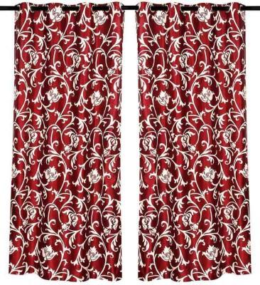 Sanaya Polycotton Red Printed Eyelet Door Curtain