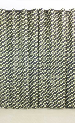 Kivadi Cotton Green Printed Eyelet Long Door Curtain