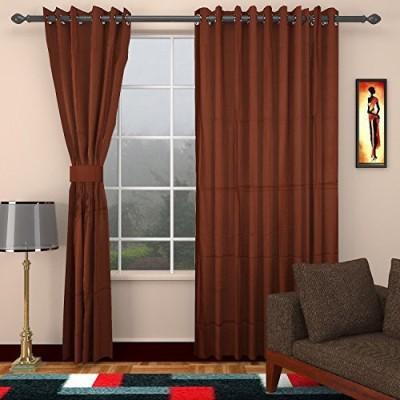 CPM HANDLOOM Cotton Chocolate Plain Curtain Long Door Curtain