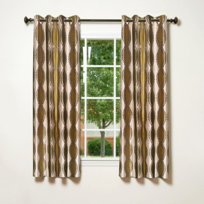 IWS Polyester Multicolor Printed Eyelet Window Curtain