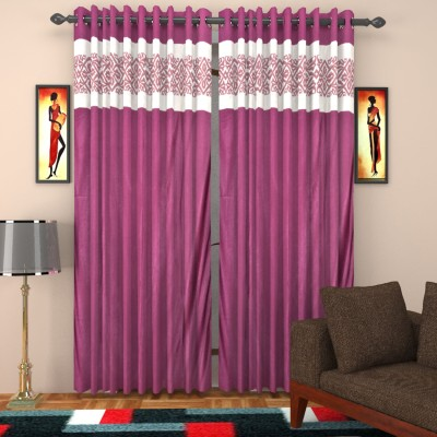 kart4smart Silk Purple Plain Curtain Window & Door Curtain