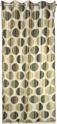 Drapez Polyester Green Polka Eyelet Door Curtain