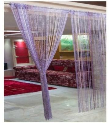 Ramcha Polyester Purple Self Design Rod pocket Window & Door Curtain