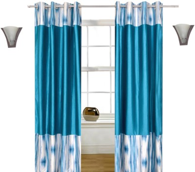 Shopcrats Polyester Blue Abstract Curtain Window & Door Curtain