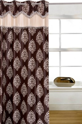 Shopcrats Polyester Multicolor Geometric Rod pocket Window & Door Curtain