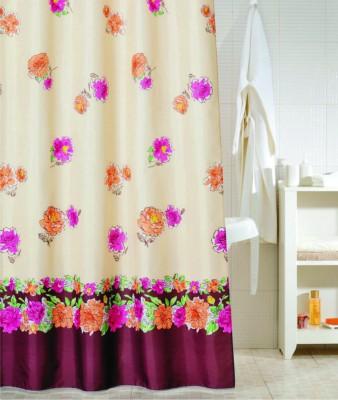 Freelance Polyester Multicolor Polka Eyelet Door Curtain