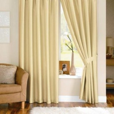 Home And Craft Polyester White Plain Eyelet Door Curtain