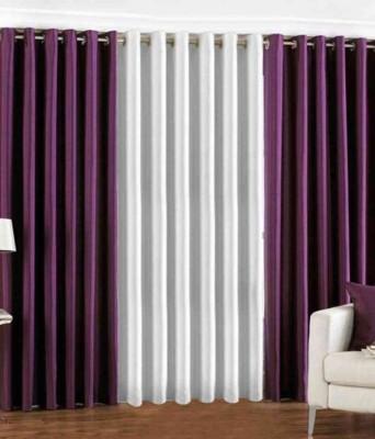 Style Maniac Polyester Multicolor Plain Eyelet Window Curtain